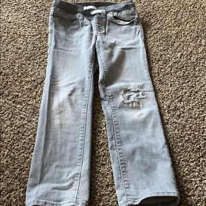 Old navy gray distressed jeans